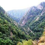 Rumunia - widok z zapory na Trasę 7C